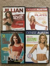 4 Highly Rated Fitness DVDs. Like New. See explanation. in Fairfield, California