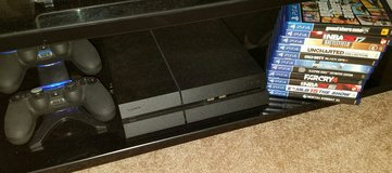 PS4, 11 Games, 2 Controllers, & Charger in DeRidder, Louisiana