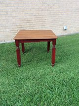 antique painted table in Houston, Texas