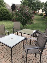 2- patio tables w/4 chairs. umbrellas not included in Aurora, Illinois