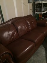 Brown Leather Couch in Aurora, Illinois