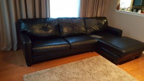Black Sectional Sofa Couch in Joliet, Illinois