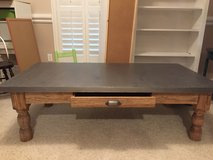 Pottery Barn Zinc Top coffee table in Tomball, Texas