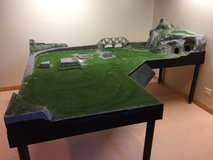 HO Scale Train Layout with Control Station / Race Car Track / Remote Control Crane / Helicopter ... in Aurora, Illinois