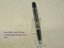 Custom Hand Crafted Pen Sierra Twist Style Pen w/ Wood dyed Green Feature in Fort Campbell, Kentucky