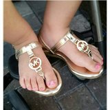 Toddler girls Michael Kors gold sandals in Okinawa, Japan