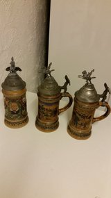 3 old military steins in Ramstein, Germany