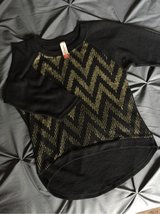Small Black Gold Chevron Hi Lo Sweater in Olympia, Washington