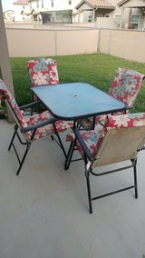 patio table set in San Clemente, California