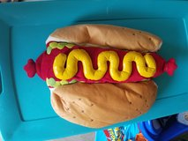 Dog hotdog costume in Watertown, New York