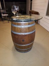 Wine Barrel tables - glass included in CyFair, Texas