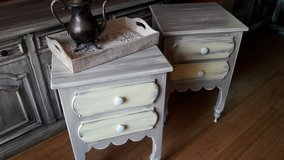 Tall Light Grey and Yellow Night Stands in Baytown, Texas