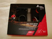Mac tronic bicycle lights set in Ramstein, Germany