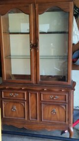 China Cabinet Hutch Lighted in Oswego, Illinois