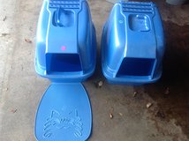 Blue Kitty Litter Boxes and one matt in Bartlett, Illinois