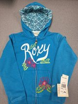 Roxy Zip-Front Hoodie – Caribbean Sea – Size M 10 in Algonquin, Illinois