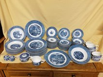 "Vintage Royal Blue Fine China ""Currier & Ives"" Dishes Set  (Circa 1950's) in Camp Lejeune, North Carolina"