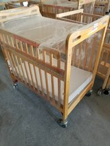 Kaplan Safe and Sound Easy Reach Crib /free mattress and fire evac base in Fort Riley, Kansas
