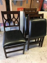 Wood folding chairs in Beaufort, South Carolina