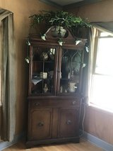 Duncan Phyfe corner hutch lighted in Quad Cities, Iowa
