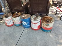 Old oil cans in Fort Carson, Colorado