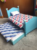 American girl doll trundle bed / bedding in Aurora, Illinois