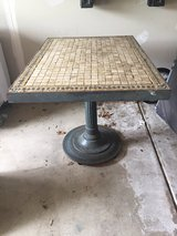 Metal and tile trivet table in Sugar Grove, Illinois