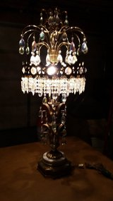 Vintage Lamp with over 400 Crystals in Algonquin, Illinois