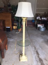 floor lamp with glass table in Aurora, Illinois