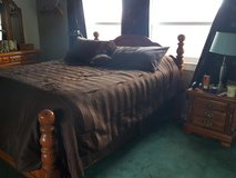 Queen Bed w/ mattresses, Night Stand and Large Dresser with mirror in Alamogordo, New Mexico