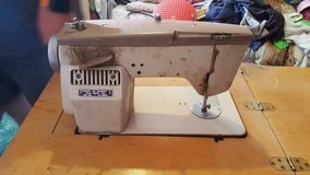Vintage Riccar Sewing Machine in Cabinet in Barstow, California