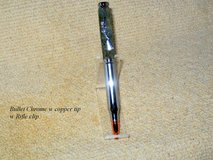 5.56mm . Rifle Cartridge Bullet Pen with a Rifle Clip - Handcrafted  Dyed Maple Wood in Fort Campbell, Kentucky