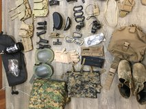 Military gear and miscellaneous items in San Clemente, California