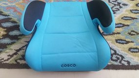 Blue Cosco Fabric Backless Booster Seat / Baby car seat in Okinawa, Japan