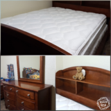 Full size bedroom set w/ mattress in Guam, GU