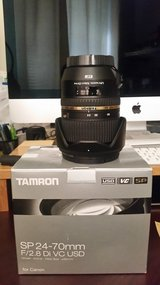 Tamron SP 24-70mm F/2.8 DI VC USD Lens for Canon EF Cameras (Model A007E) in Okinawa, Japan