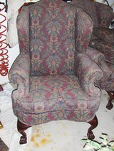 PRICE REDUCED: Queen Ann Style Wing Back Living Chairs in Aurora, Illinois