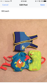 Infant/toddler swim jackets in Warner Robins, Georgia