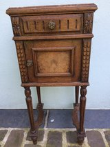 Beautiful antique solid wood side table from France in Ramstein, Germany