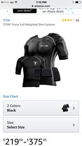 Titin weighted compression shirt in Okinawa, Japan