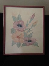 Mauve framed oil painting appraised at $415.00 in Aurora, Illinois