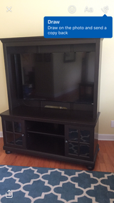 Tv stand with hutch in Bolingbrook, Illinois