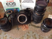 Vintage Canon EOS 650 + lenses in Ramstein, Germany