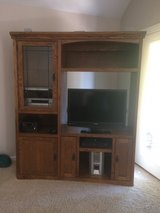 Solid wood entertainment center in Morris, Illinois