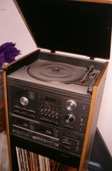 1986 Sears AM/FM, CD, Cassette, Record LP player (works great - American 110v plugin) in Grafenwoehr, GE
