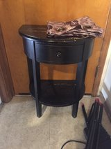 small side table and curtains in Sugar Grove, Illinois