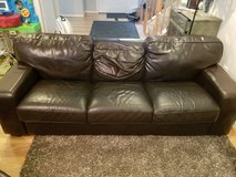 Leather Sofa & Armchair w/ Ottoman in Watertown, New York