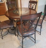 6 piece glass and iron kitchen table in Joliet, Illinois