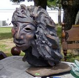 Handmade Clay Indian in Ruidoso, New Mexico