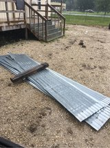 corrugated tin 12' sheets. +_ 15 sheets in Beaumont, Texas
